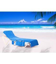 ITSA strandlaken voor strand ligbedjes - blauw