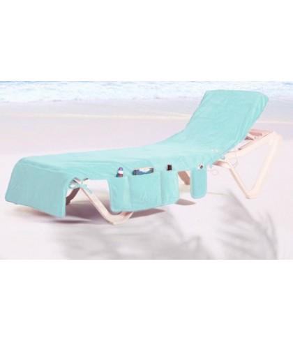 ITSA strandlaken voor op een strandbed MINTGROEN