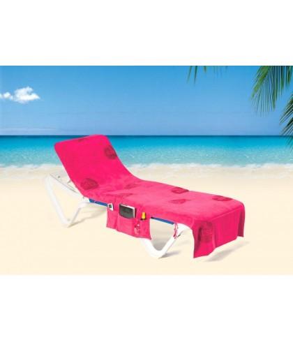 ITSA strandhandoek voor een strandbed - Roze