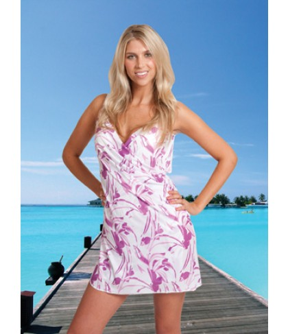 ITSA WRAP wikkel jurkje voor op het strand