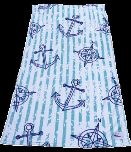 Tillow - Anker | Anchor Design - strandlaken met kussen en opbergvakken